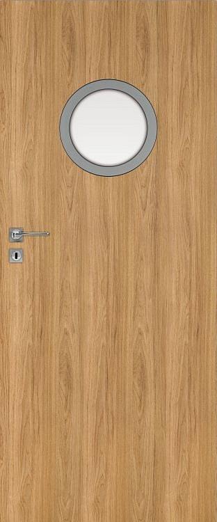 Interiérové dveře DRE STANDARD CPL kulaté okénko