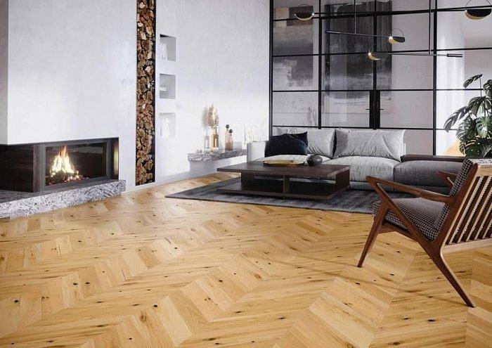 Dřevěná podlaha Barlinek Pure Classico - Dub Raisins Chevron