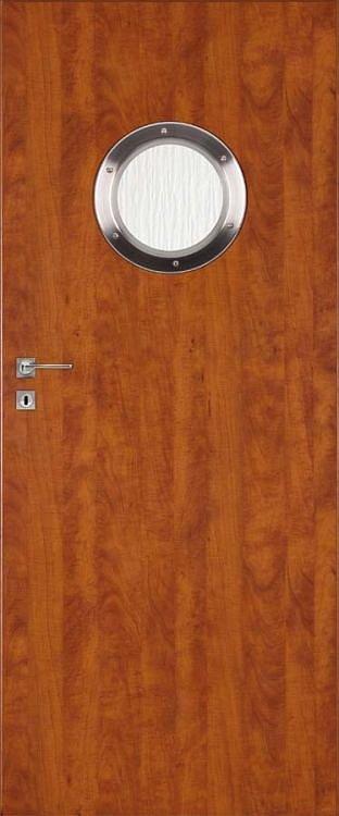 Interiérové dveře DRE STANDARD kulaté okénko - ocel
