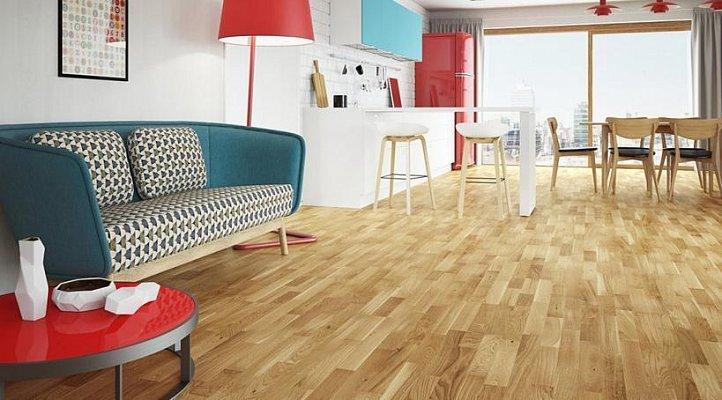 Dřevěná podlaha Barlinek Decor - Dub Azure Window Molti