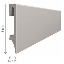 doporučujeme přikoupit: Podlahová lišta soklová VOX Espumo ESP203 - šedá