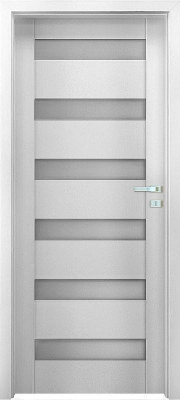 "Interiérové dveře EGO LINE MATERA 3 - Bílá B134, pravé ""60"", zámek pro BB"