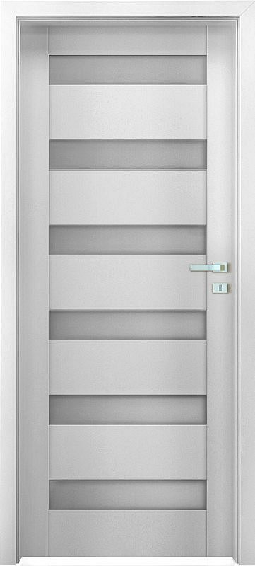 "Interiérové dveře EGO LINE MATERA 3 - Bílá B134, pravé ""80"", zámek pro BB"