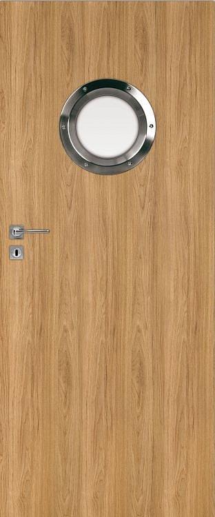 Interiérové dveře DRE STANDARD CPL kulaté okénko - ocel