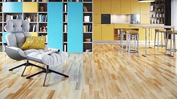 obrázek Dřevěná podlaha Barlinek Decor - Jasan Glow Molti