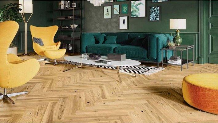 Dřevěná podlaha Barlinek Pure Classico - Dub Ramsey Herringbone