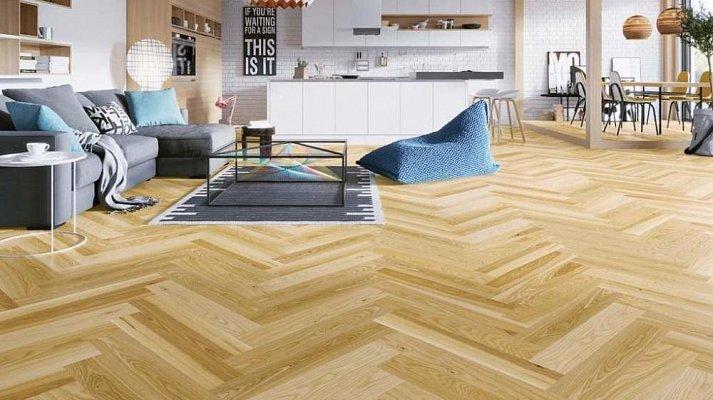 Dřevěná podlaha Barlinek Pure Classico - Jasan Auric Herringbone 5G