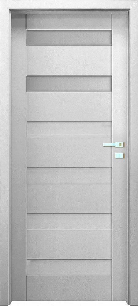 """Interiérové dveře EGO LINE MATERA 2 - Bílá B134, pravé """"70"""", zámek pro WC"""