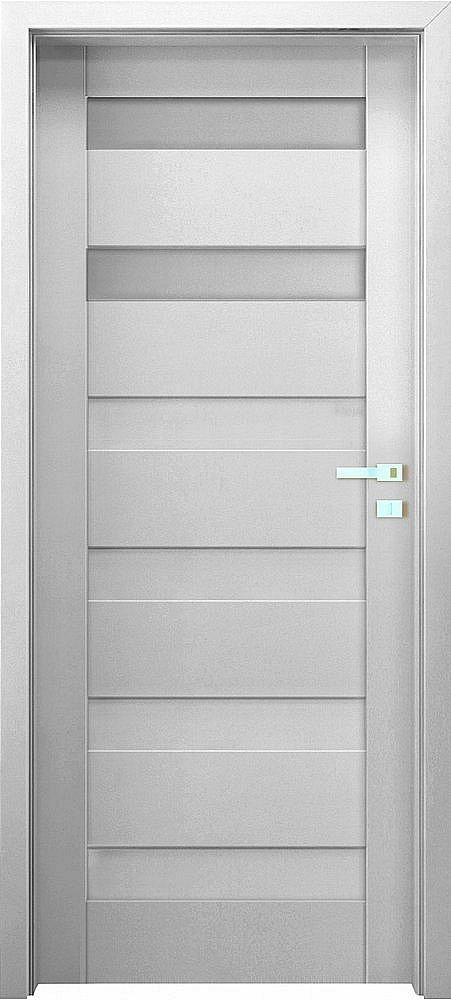 """Interiérové dveře EGO LINE MATERA 2 - Bílá B134, pravé """"60"""", zámek pro WC"""