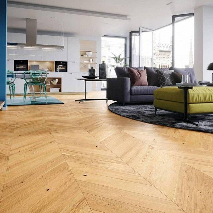 Dřevěná podlaha Barlinek Pure Classico - Dub Caramel Chevron