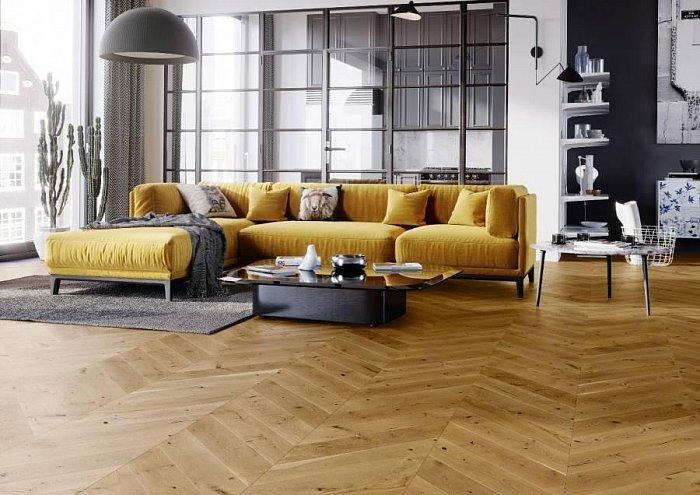 Dřevěná podlaha Barlinek Pure Classico - Dub Mainland Chevron