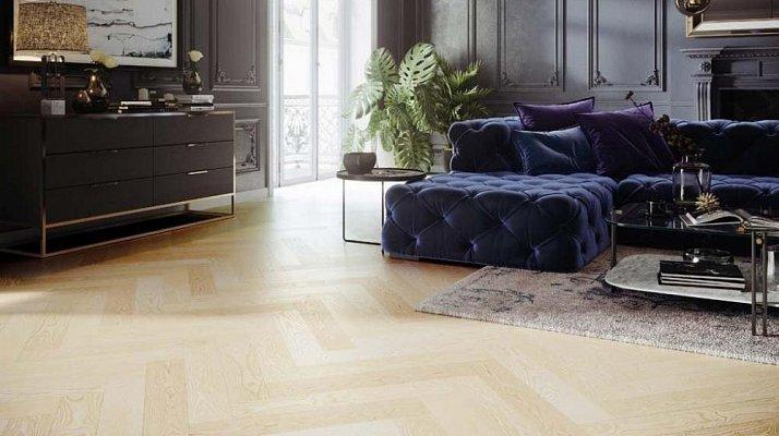 Dřevěná podlaha Barlinek Pure Classico - Jasan Moonlight Herringbone 5G