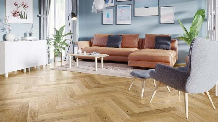 Dřevěná podlaha Barlinek Pure Classico - Dub Caramel Herringbone