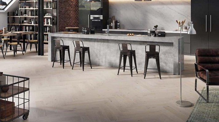 Dřevěná podlaha Barlinek Pure Classico - Dub Cappuccino II. Herringbone 5G