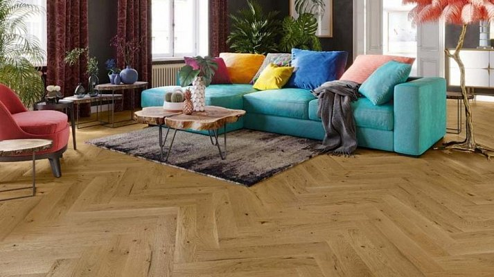 Dřevěná podlaha Barlinek Pure Classico - Dub Mainland Herringbone
