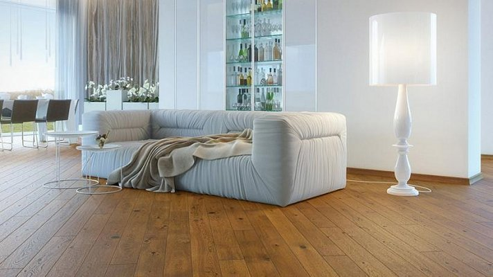 Dřevěná podlaha Barlinek Pure - Dub Sugar Brown Piccolo