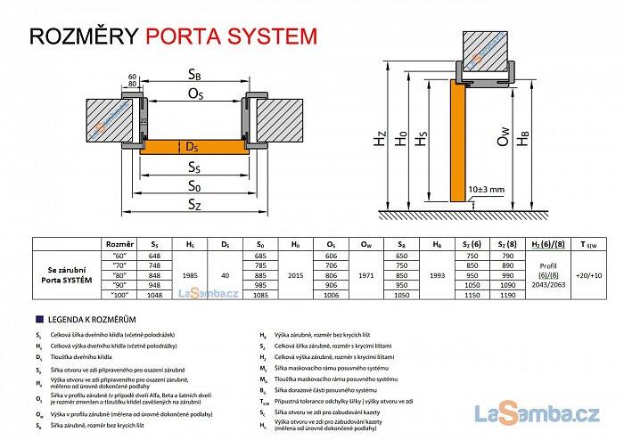 obrázek Zárubeň obložková regulovatelná PORTA SYSTEM