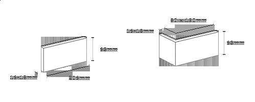 obrázek Obklad Stegu - Loft white (roh)