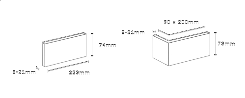 obrázek Venkovní Obklad Stegu - Boston grey (roh)