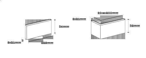 obrázek Venkovní Obklad Stegu - Boston white (roh)