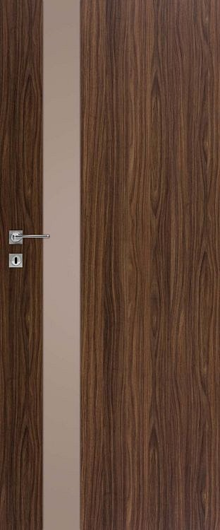 Interiérové dveře DRE VETRO D - D1 matné hnědé sklo