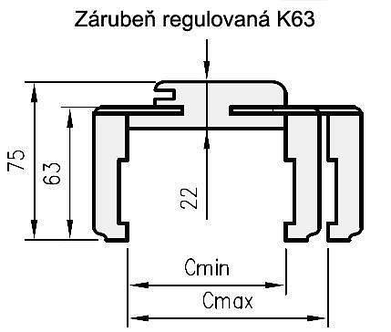 obrázek DRE zárubeň obložková regulovatelná K63