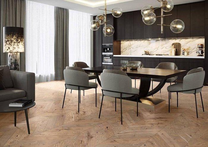Dřevěná podlaha Barlinek Pure Classico - Dub Serene Chevron