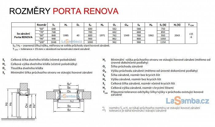 obrázek Zárubeň obložková regulovatelná PORTA RENOVA - na kovové zárubně