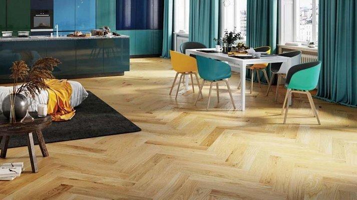 Dřevěná podlaha Barlinek Pure Classico - Dub Caramel II. Herringbone 5G