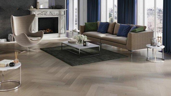 Dřevěná podlaha Barlinek Pure Classico - Dub Marzipan Muffin Herringbone 5G