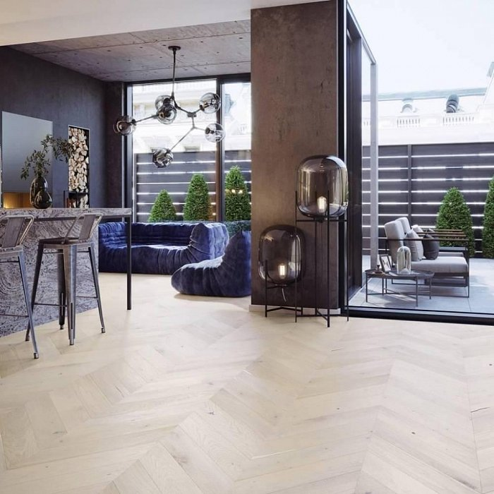Dřevěná podlaha Barlinek Pure Classico - Dub Trivor Chevron